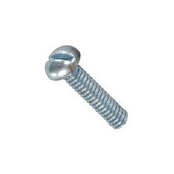 SLOTTED ROUND HEAD MACHINE SCREWS PLATED