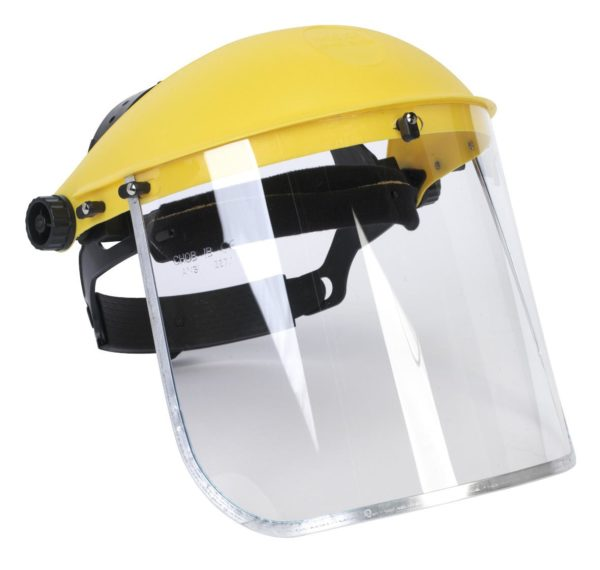 RATCHETING FACE SHIELD