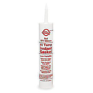 RED HI-TEMP SILICONE 11 OUNCE CARTRIDGE
