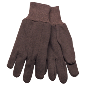 BROWN JERSERY HEAVY WEIGHT GLOVES